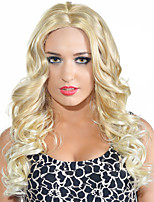 Women Wigs Natural Hair Heat Resistant 16 inch Middle Part Long Curly Wig Blonde Wig Synthetic Wigs Hot Sale.
