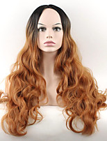 Hot Selling Black To Brown Color Synthetic Cosplay Wigs For Women Party Wigs