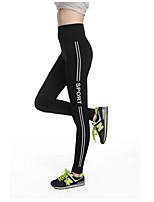 Штаны для йоги Брюки Дышащий Сжатие видеоизображений Впитывает пот и влагу Высокое Эластичность Спортивная одежда Жен.Йога Аэробика и