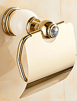 European Style Solid Brass Crystal Gold Bathroom Shelf Bathroom Toilet Paper Holders Bathroom Accessories
