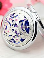 Le motif est aléatoire peinture à la main miroir de maquillage en céramique miroir de miroir compacte compact miroir grossissant pour