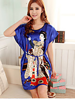 Nuisette & Culottes Vêtement de nuit Femme Couleur Pleine-Mince Polyester Aux femmes