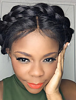 sraight brasilianska humana hår spets front peruker med baby hår limfria spetsar front peruker för afroamerikaner 130% densitet