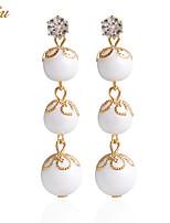 Drop Earrings Earrings Set Earrings Imitation Pearl Basic Flower Style Cute Style Imitation Pearl Handmade Fashion Adorable Classic DIY