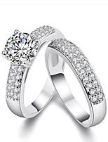 Кольца для пар Обручальное кольцо Стразы ЦирконийЛюбовь Сердце Мода Euramerican Фильм ювелирные изделия Pоскошные ювелирные изделия
