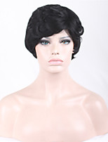 Short Side Curly Black Women Synthetic Wig Fiber Cheap Cosplay Party Hair