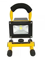Hkv® 1pcs 10w 900-1000lm 6000-6500k luz branca luz de inundação chargeable carregável luzes de emergência levou projector (ac 85-265v)