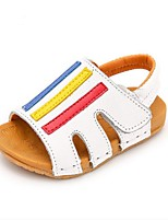 Kids' Baby Sandals First Walkers Cowhide Summer Casual First Walkers Flat Heel White Yellow Flat