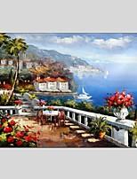 Ručně malované Krajina Horizontální Panoramic,Moderní Klasický Jeden panel Plátno Hang-malované olejomalba For Home dekorace