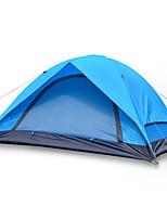 2 personnes Tente Double Tente pliable Une pièce Tente de camping Fibre de verre Oxford Etanche Portable-Randonnée Camping-Bleu