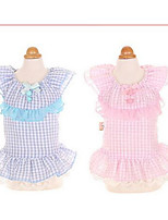 Dog Dress Dog Clothes Cute Fashion Princess Blushing Pink Blue