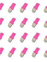 20Pcs T10 5*5050SMD LED Car Light Bulb Pink Light  DC12V
