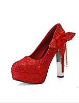 Mujer-Tacón Robusto-Confort Zapatos del club-Zapatos de boda-Oficina y Trabajo Vestido Fiesta y Noche-Tejido-