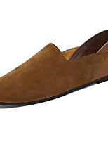 Черный Коричневый Хаки-Для мужчин-Повседневный-Замша-На плоской подошве-Удобная обувь-Мокасины и Свитер