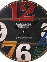 Unique Gift Antique Wall Clock Vintage MDF Wooden Wall Clock Big Size Home Decor Horloge Murale
