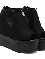 Women's Heels Creepers Synthetic Casual Black