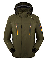 LEIBINDI®Men's Winter Jacket 3-in-1 Jackets Skiing Camping / Hiking Snowsports SnowboardingWaterproof Breathable Thermal / Warm Windproof