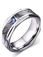 Herrn Ring Basis Modisch individualisiert Euramerican Simple Style Modeschmuck Wolframstahl Kreisform Runde Form Geometrische Form Schmuck