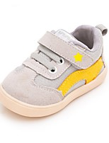 Boys' Baby Sneakers First Walkers Suede Spring Fall Casual First Walkers Flat Heel Black Gray Ruby Blue Flat