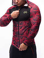 Running Sweatshirt / Tops Men's Long Sleeve Compression / Comfortable Nylon / Tactel Leisure Sports / Running Sports Wear High Elasticity