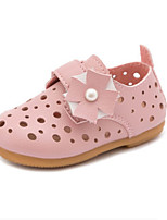 Girls' Flats Summer Flower Girl Shoes Leatherette Casual Flat Heel Blushing Pink Red White