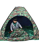 1 Pessoa Tenda Duplo Tenda Dobrada Um Quarto Barraca de acampamento 2000-3000 mm Fibra de Vidro Oxford Prova de Água Portátil-Equitação