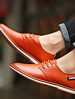 Men's Oxfords Comfort Pigskin Office & Career Casual Orange Black White