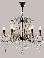 LightMyself 6 Lights Crystal Chandelier Modern/Contemporary Traditional/Classic Rustic/Lodge Vintage Retro Country Painting Feature for LED Metal