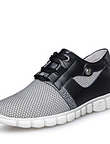 Men's Sneakers Mary Jane Comfort Tulle Outdoor Athletic Casual Flat Heel Lace-up Gray Black Running