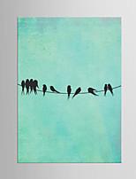 Estampado Giclée Abstrato Moderno Clássico,1 Painel Tela Vertical Impressão artística Decoração de Parede For Decoração para casa