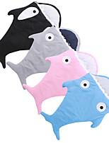 Kigurumi Pajamas Shark Leotard/Onesie Festival/Holiday Animal Sleepwear Halloween Pink Black Gray Blue Solid Cotton PolyesterCosplay