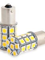 2шт 1156 27 * 5050smd светодиодная лампа для автомобиля теплый свет dc12v