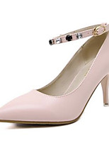 Черный Розовый-Для женщин-Повседневный-ПолиуретанУдобная обувь-Сандалии