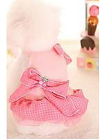 Собаки Платья Одежда для собак Милые Мода Принцесса Лиловый Синий Розовый