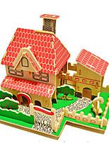 Puzzles Puzzles 3D Blocs de Construction Jouets DIY  Jouets Bois Maquette & Jeu de Construction