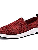 Черный Серый Красный-Для мужчин-Для прогулок Повседневный Для занятий спортом-Ткань-На плоской подошве-Удобная обувь Светодиодные подошвы-