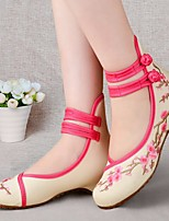 Women's Sneakers Spring Comfort Canvas Casual Blushing Pink Red Black