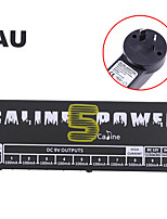 Caline CP-05 Power Supply for Effect Pedal with Blue LED Light Black plug is AU standard