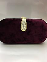 Для женщин Замша На каждый день Для праздника / вечеринки Для свадьбы Вечерняя сумочка Золотой Черный Серебряный Винный