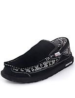 Черный Серый-Для мужчин-Повседневный-Кожа-На плоской подошве-Удобная обувь-Мокасины и Свитер