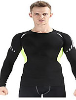 Men's Long Sleeve Running Breathable Sports Wear Exercise & Fitness Terylene Tight