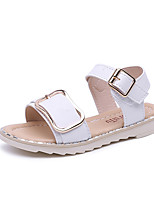 Girls' Sandals Spring Summer Fall Comfort PU Casual Flat Heel Blushing Pink White