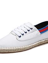 Мужские бездельники&Slip-ons весна осень комфорт пара обувь pu casual белый / зеленый белый / синий черный