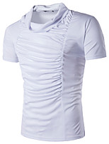 Tee-shirt Homme,Couleur Pleine Décontracté / Quotidien Chic de Rue Manches Courtes Licou Polyester