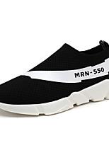 Men's Sneakers Spring Summer Comfort Light Soles Tulle Outdoor Athletic Casual Flat Heel Gray Black Running
