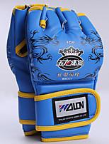 Боксерские перчатки для Бокс Без пальцев Защитный Нейлон Кожа Черный Красный Синий