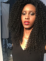 MAYSU Black African Roll Long Hair Front Lace  Synthetic Wig Woman Hair