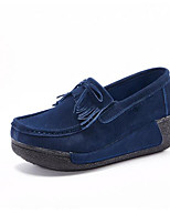 Women's Sneakers Spring Moccasin Comfort Leather Casual Fuchsia Dark Blue Black