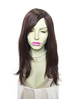 монолитным длинные вьющиеся синтетический парик моды для женщин волосы парик с челкой боковой части