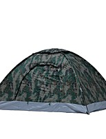 2 persons Tent Single Fold Tent One Room Camping Tent <1000mm Keep Warm Windproof Rain-Proof-Camping / Hiking Hunting Fishing Climbing
